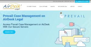 Prevail Case management on AirDesk Legal